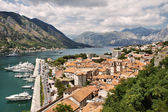 Beautiful view of Kotor Bay (Montenegro, Adriatic sea) HDRI image — Stock Photo