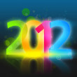 New Year Eve 2012 (Color figures) — Stock Photo