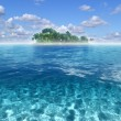 Stock Photo: Paradise island in turquoise water