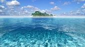 остров парадайз в бирюзовой воде — Стоковое фото