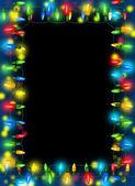 Frame of Christmas lights — Stock Photo