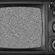 Vintage TV with noise on screen — 图库照片