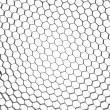 Abstract metallic hexagon mesh — Stock Photo