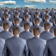 Rear view of many businessmen — Stock Photo #6840267