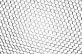 Abstract metallic hexagon mesh — Stock Photo