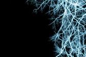 Blue lightnings — Stock Photo