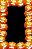 Frame of halloween pumpkins — Stock Photo