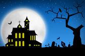 Spooky Halloween night — Stock Photo