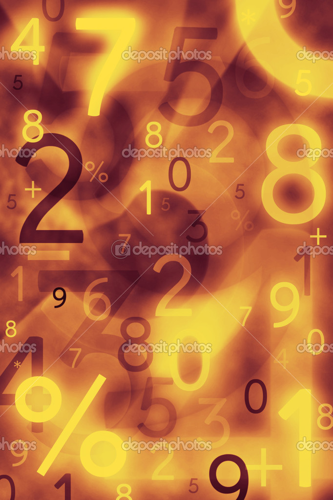 Abstract numbers. Use for background or texture — Stock Photo #6922810