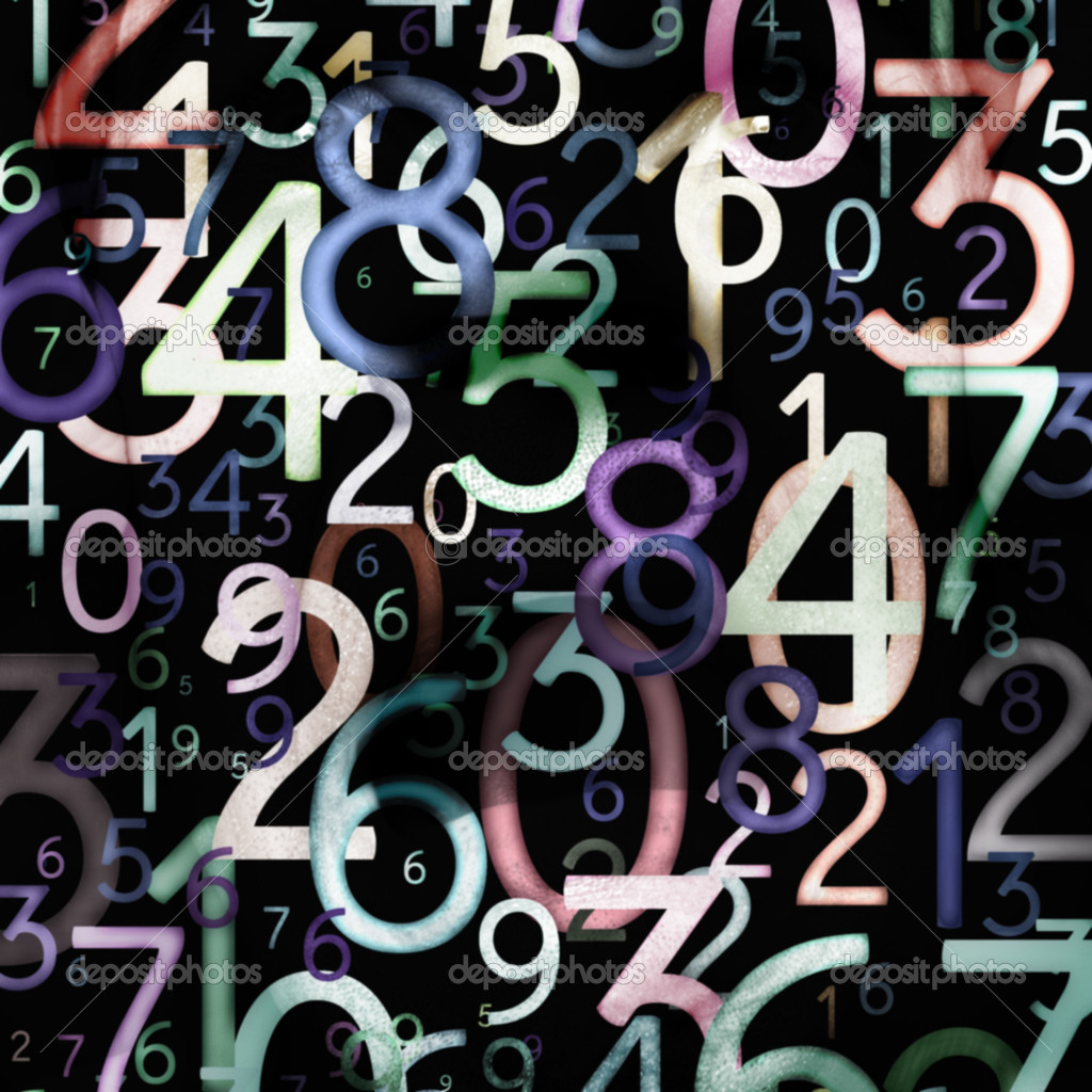 Abstract colorful numbers. Use for background or texture — Stock Photo #6922815