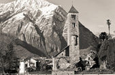 Ancient church ad Alps — Stock Photo