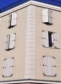 Facade of new building — Stock Photo