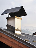 Chimney cap on roof — Stock Photo