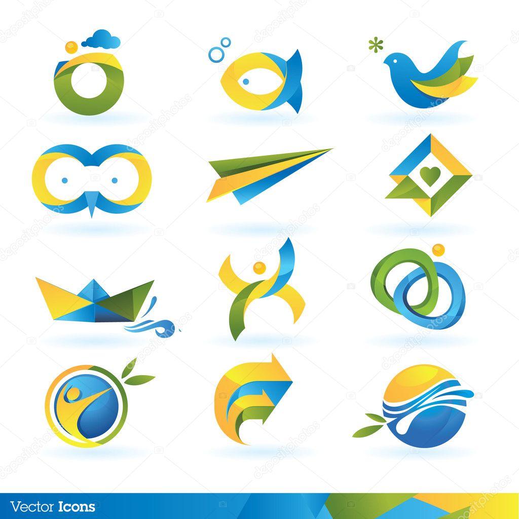 Icon design elements — Stock Vector © tanjakrstevska #6770896