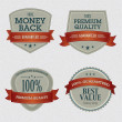 Set of Premium Quality Labels — 图库矢量图片