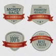 Set of Premium Quality Labels — Vector de stock #7344958