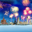 Travel - New year around the world - Stock Photo