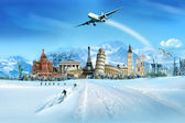 Travel - winter season — Stock Photo