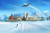 Travel - winter season — Stock Photo