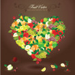 Delicious heart-shaped fruits — Stock Vector #7685746