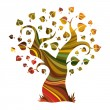 Multicolour abstract tree - Stock Vector