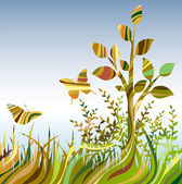 Multicolour abstract landscare — Stock Vector
