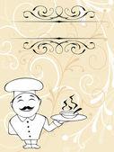 Chef menu — Stock Vector