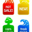 Royalty-Free Stock Vector Image: Stickers 4 elements