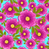 Dogrose seamless blue pattern. — Stock Vector