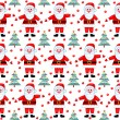Stock Vector: Santas seamless pattern.