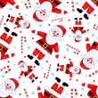 Seamless santas pattern. - Stock Vector