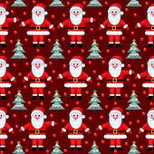 Red santas seamless pattern. — Stock Vector