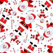 Seamless santas pattern. — Stock Vector