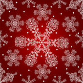 Snowflakes seamless pattern. — Vector de stock