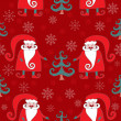 Royalty-Free Stock Vector Image: Red seamless christmas pattern 4