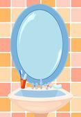 Mirror in a bathroom — Stock Vector