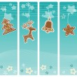 Christmas banners collection. — Stock Vector