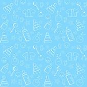 Blue baby seamless. — Stock Vector