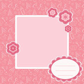 Pink baby background. — Stock Vector