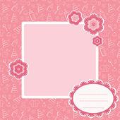 Pink baby achtergrond. — Stockvector