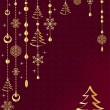 Red Christmas decoration. — Stock Vector