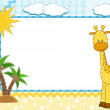 Stock Vector: Children frame. Giraffe.