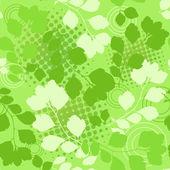 Green floral seamless. — Stock Vector