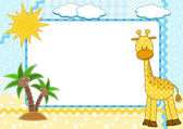 Children frame. Giraffe. — Stock Vector