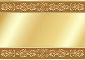 Gold ornamental background. — Stock Vector