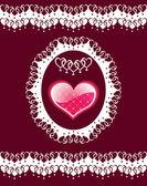 Fondo con corazón. — Vector de stock