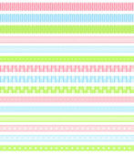 Pastel ribbon collection. — Stock Vector