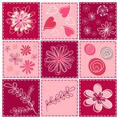 Set floral design element. — Stock Vector