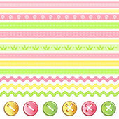 Button and ribbon collection. — Stock Vector