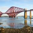 Forth Bridge in Scotland - Stock Photo